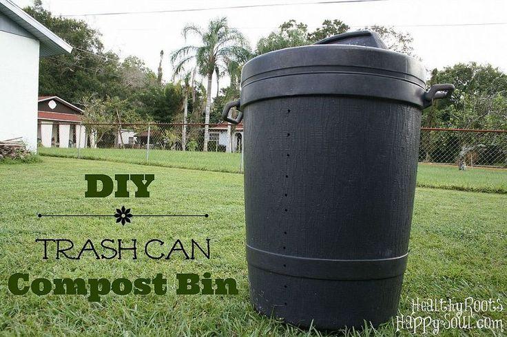 DIY Trash Can Compost Bin