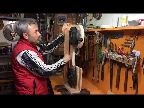 Mini Hızar (şerit testere) Yapımı - YouTube