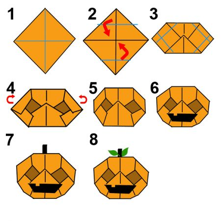 origami halloween sorcière