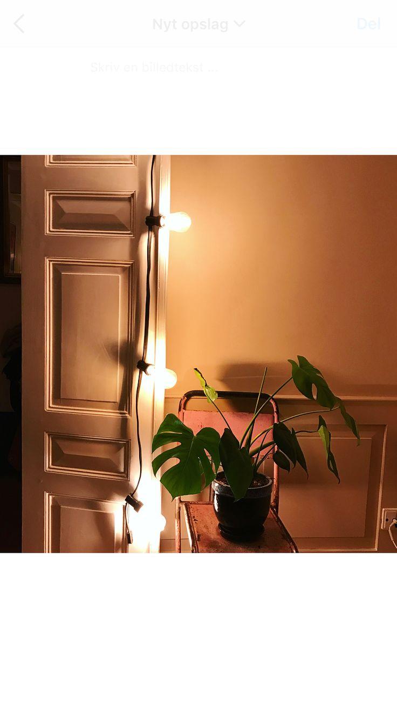 Hjemmehygge kan altid skabes med en #lyskæde #lightchain