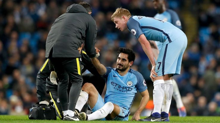 Manchester City's Ilkay Gundogan out with cruciate knee ligament damage