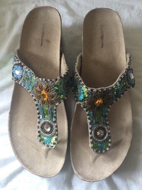3cbc70e9b Croft   Barrow Grace Blue Jay Bling Sandals  fashion  clothing  shoes   accessories