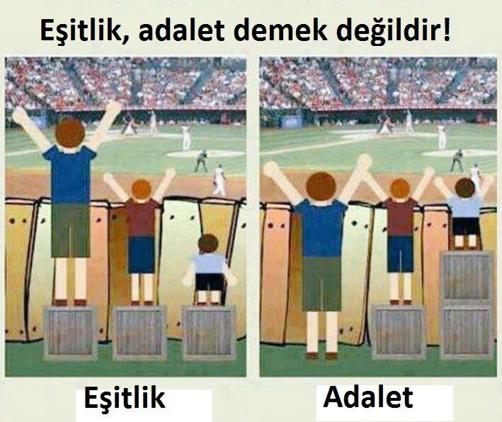 #Eşitlik, #adalet değildir! #Equality doesn't mean #justice ! #Gelecek #Future #Futurist #GelecekGüzelGelecek
