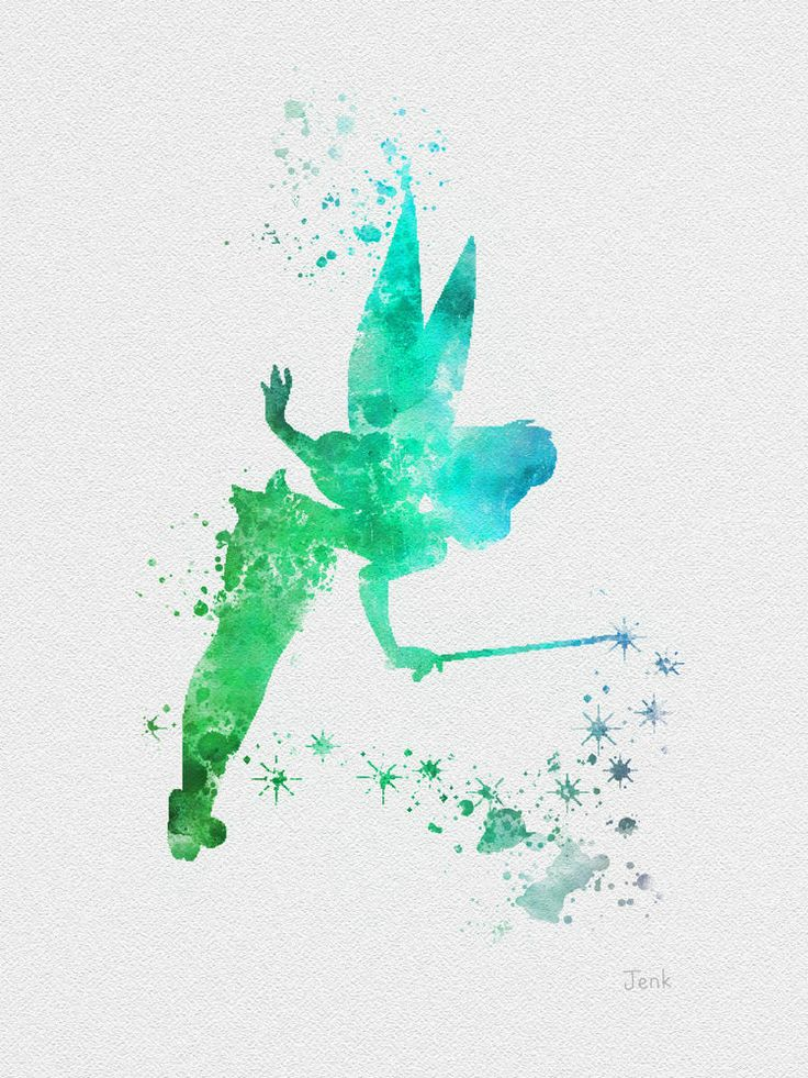 Art Print Of Tinker Bell Fairy Peter Pan Illustration 10 X 8 Disney