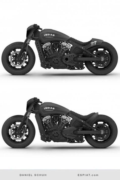 coole Indian Scout Bobber Umbau Ideen Mit Caferacer Heck oder Ducktail.