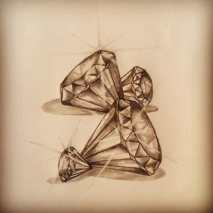 Diamonds tattoo sketch by - Ranz.  love the detail in these, want three of them to represent my sisters and I