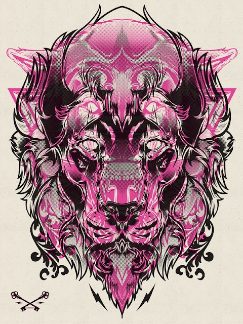 Animal Illustrations by Hydro74Tattoo Ideas, Design Inspiration, Joshua Smith, Prints Series, Art Design, Absolute Art, Graphics Design, Animal Illustration, Halftone Prints