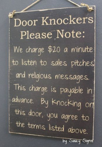 Black-Door-Knockers-Warning-Sign-No-Religion-Soliciting-Beware-Wooden-Welcome