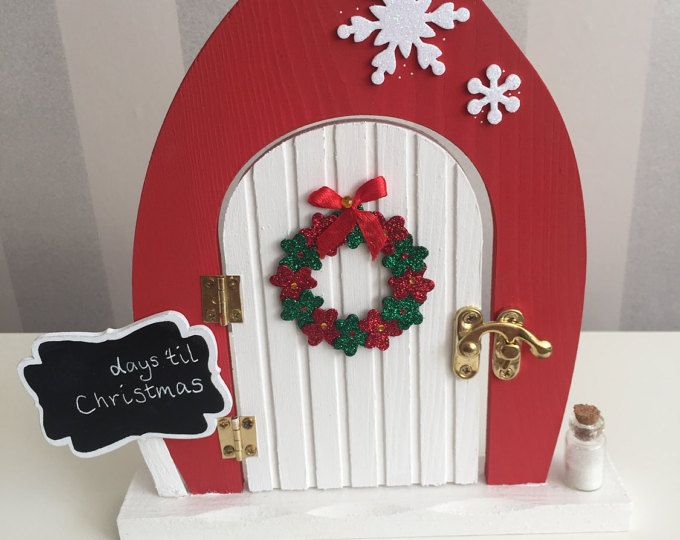 £9.00 Christmas fairy elf door. Browse unique items from TheLittlehCompany on Etsy.