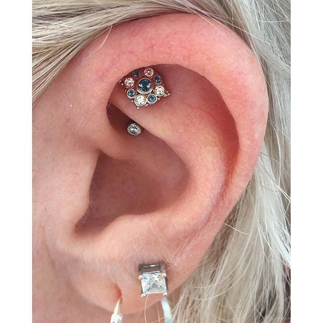 jennifer loved her year old rook piercing and she wanted to really show it off she went all out. Black Bedroom Furniture Sets. Home Design Ideas