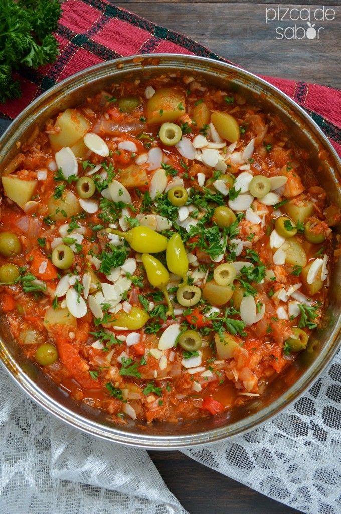 Cómo hacer bacalao a la Vizcaína  www.pizcadesabor.com