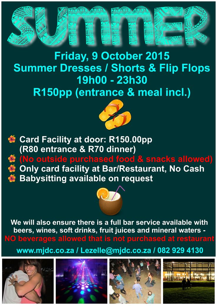 THIS Friday, 9 October 2015 - Summer Barn Dance @ The Big Red Barn www.mjdc.co.za / 0829294130