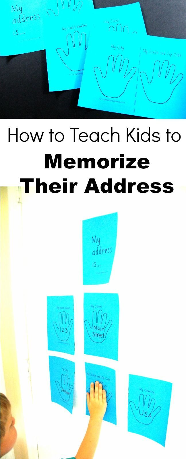 How to teach kids to memorize their address and phone number. Quick and easy learning activity for preschool, kindergarten and elementary school.