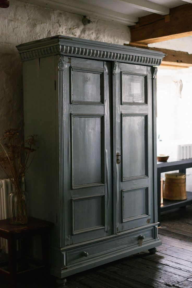 Moleu0027s Breath Fu0026B IF3654 ANTIQUE FRENCH PAINTED ARMOIRE / WARDROBE Painted  Farrow Ball Moleu0027s Breath | Interior Design | Pinterest | Armoires, Armoire  ...