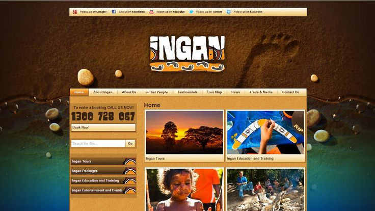 Ingan Tours | Website Design | By Corinne Jade Shardlow