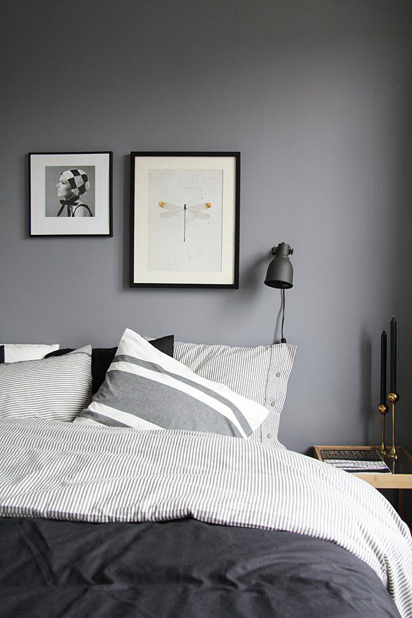 Superior Bedding To Go With Grey Walls Part - 1: Finally ... Grey Or Black Bedroom.
