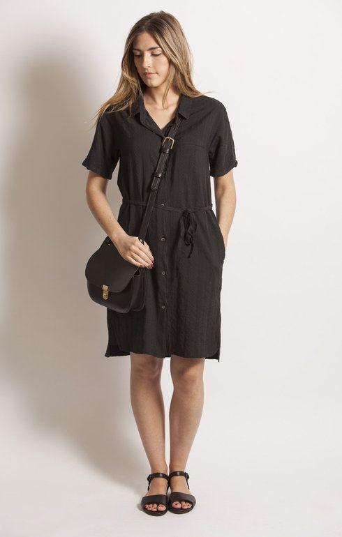 Sale - Linen Shirt Dress - Pomandère Pomandere Buy Cheap Perfect PjERyfwQ
