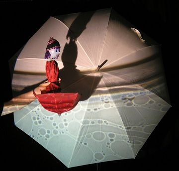 umbrella shadow puppetry