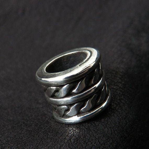 Silver beard bead by Sulik on Etsy