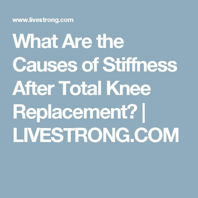 25+ best ideas about Knee replacement complications on ...
