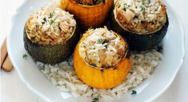 Courgettes farcies au thon et au riz | Prima