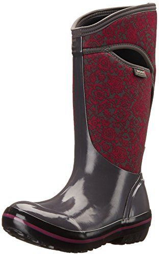 Bogs Women's Plimsoll Quilted Floral Tall Waterproof Insulated Boot, Dark, Gray Multi,8 M US >>> Want to know more, click on the image.