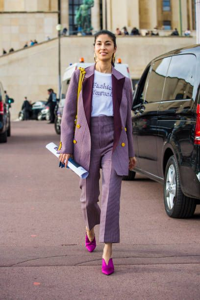 Caroline Issa is seen after the Hermes show during Paris Fashion Week Womenswear SS18 on October 2 2017 in Paris France
