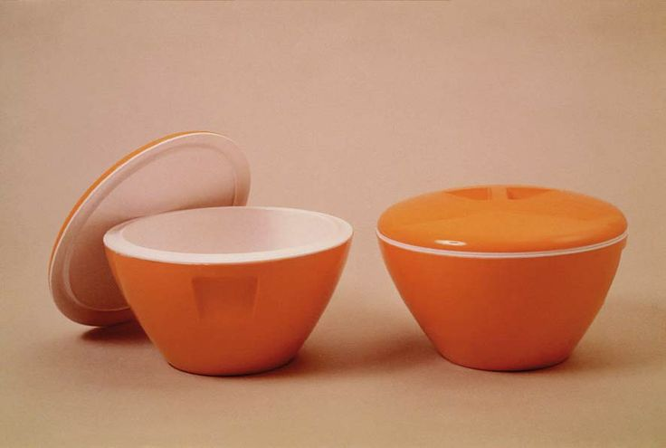 Kartell thermos soup dish, design Gino Colombini, 1957
