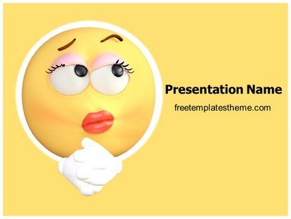 Download #free #Thinking #Emoticon #PowerPoint #Template for your #powerpoint #presentation. This #free #Thinking #Emoticon #ppt #template is used by many professionals.