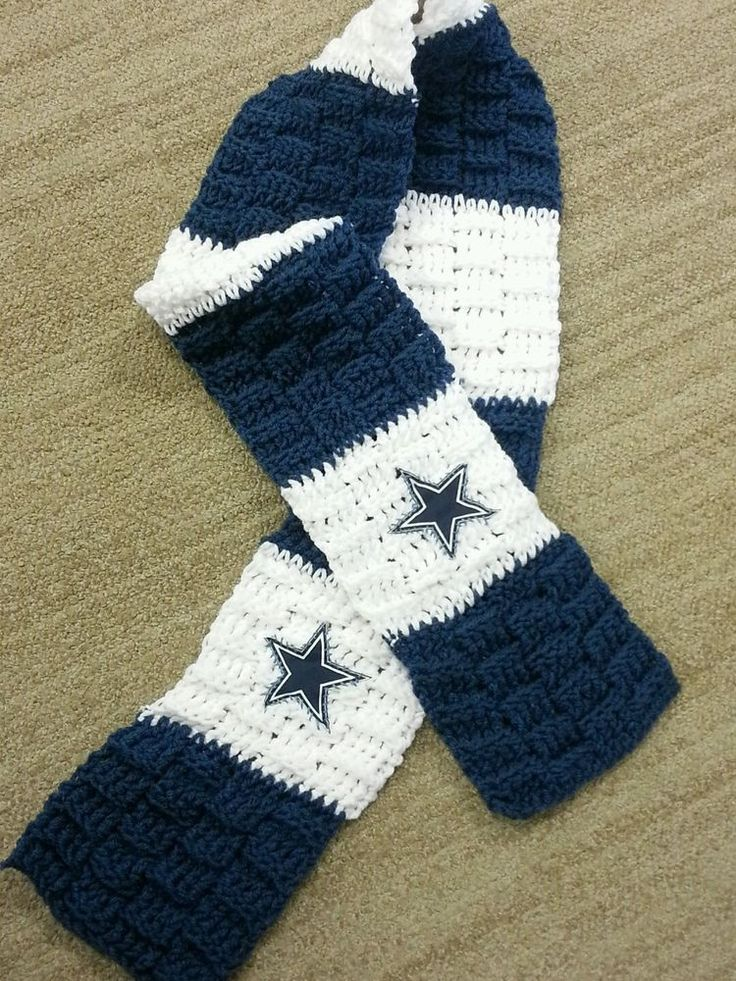 Handmade #NFL #Dallas Cowboys Crochet Scarf from $25.0