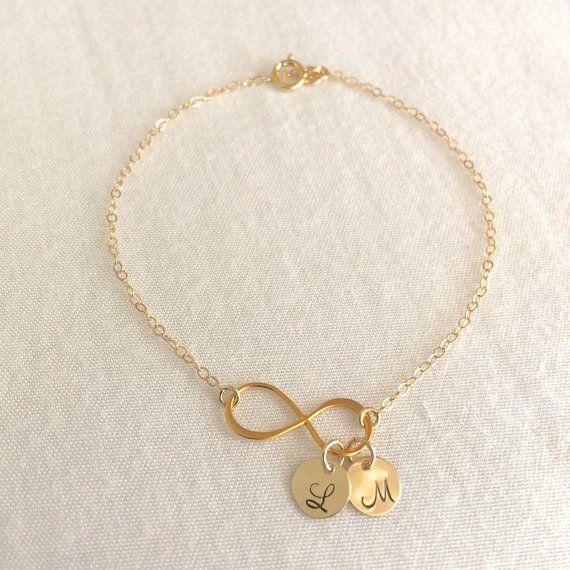 Personalized Mother's Bracelet Infinity Bracelet by StampedSchmuck