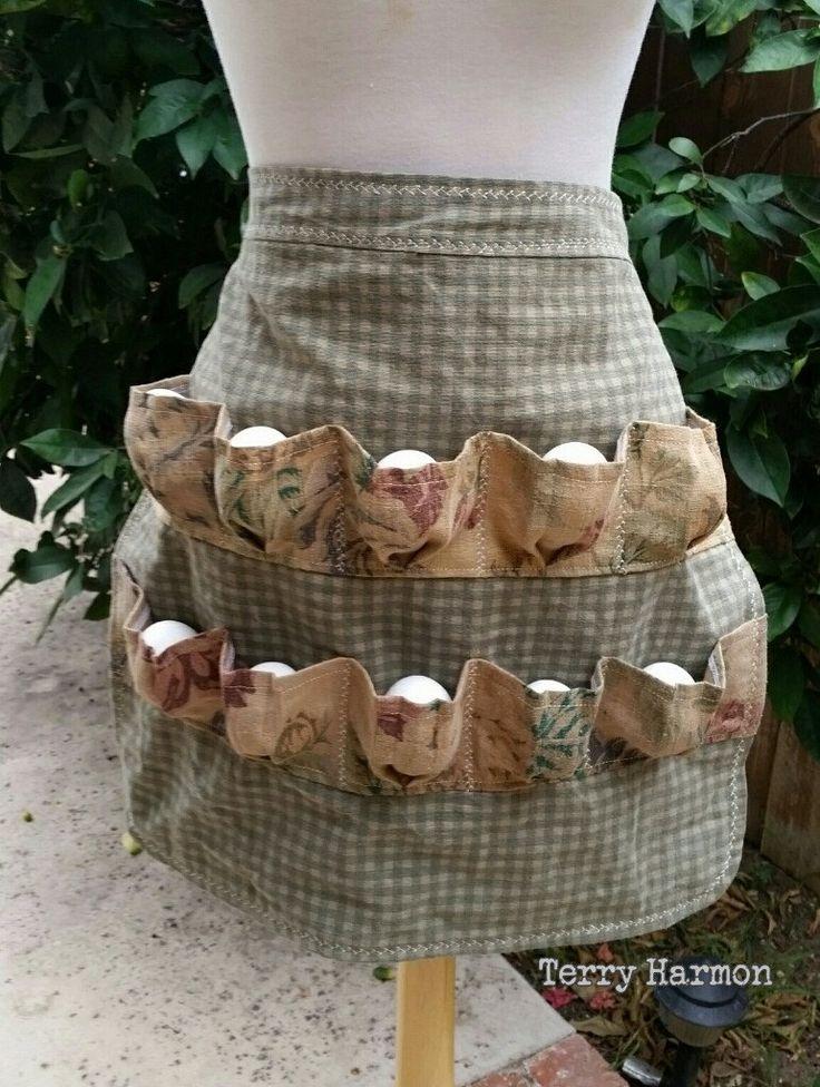Egg Collecting Apron Egg Gathering Apron - Shabby & Elegant by terryharmon on Etsy