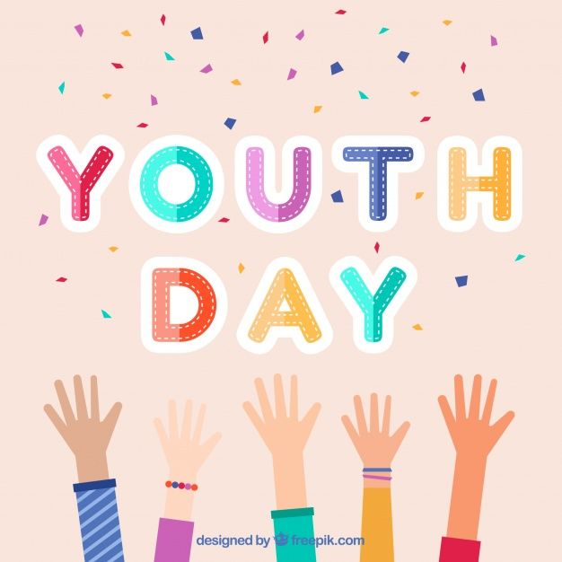 Youth day celebration background #Free #Vector  #Background #Design #World #Celebration #Event #Flat #Backdrop #Flatdesign #Future #Celebrate #Growth #Friendship #Youth #Young #Festive #International #Day #Society #Opportunity #Participation #August #Inclusion #Twelve