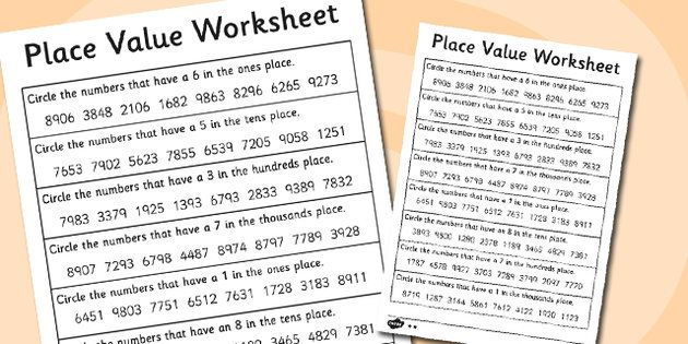 Place Value Worksheets 4 Digits Year 4 Number and Place Value - place value worksheet