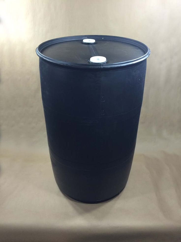 Black Plastic Drums and Barrels for Sale