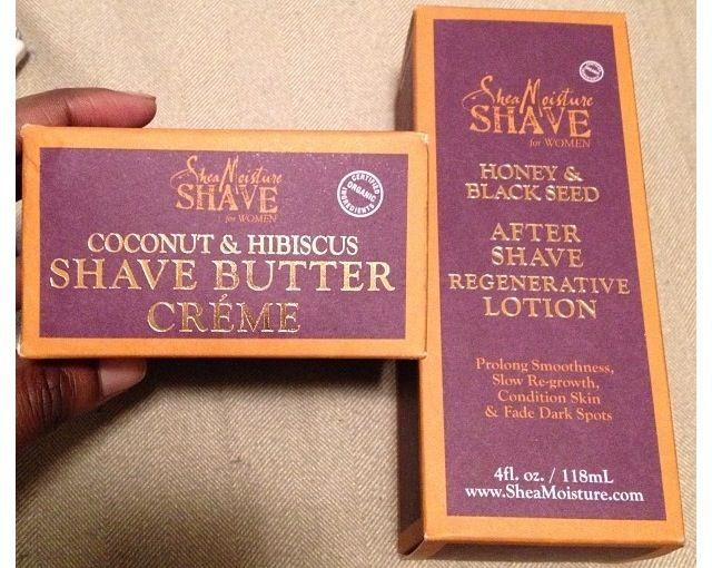 Shea Moisture Shave for Women Shave Butter Creme & After-Shave Regenerative Lotion