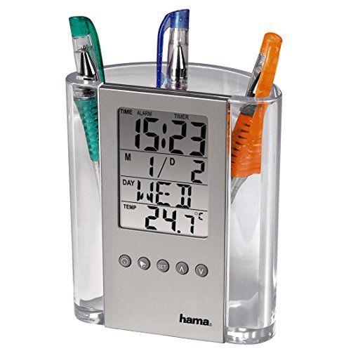 Hama LCD-Thermometer & Stifthalter mit Uhr, Wecker und Ge... http://www.amazon.de/dp/B000NRSAD4/ref=cm_sw_r_pi_dp_nUohxb1WYBDAZ