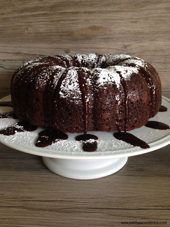 Death by chocolate cake.. the most moist, delicious, decadent chocolate cake you will ever eat! Oh, and it's way freakin' easy to throw together!