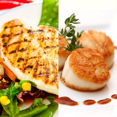 Chicken is OK, scallops are better: Tips for making cholesterol lowering foods taste delicious, even while you're lowering your cholesterol levels.