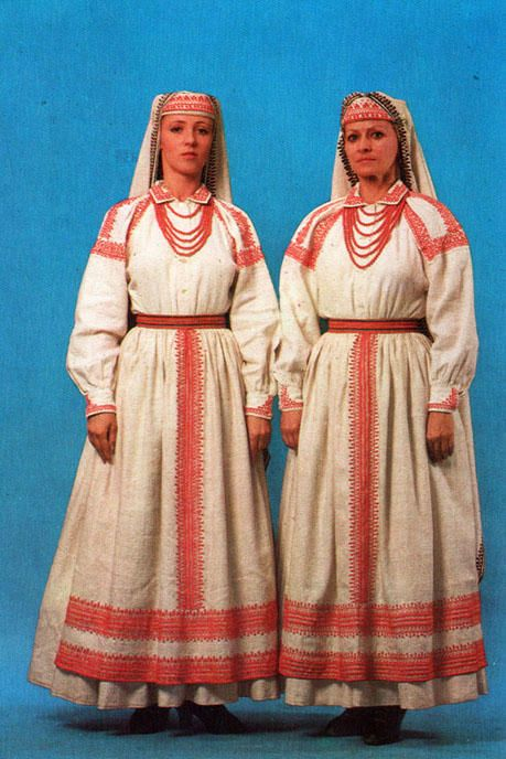 old polish postercard - Bilgoraj girls, Poland