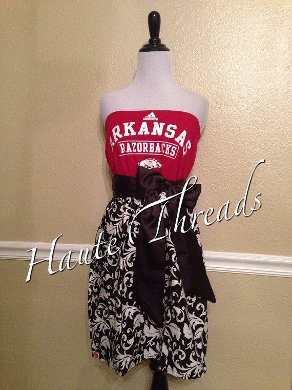 Arkansas Razorbacks HOGS Football College Gameday Dress by hautethreadsboutique, $50.00