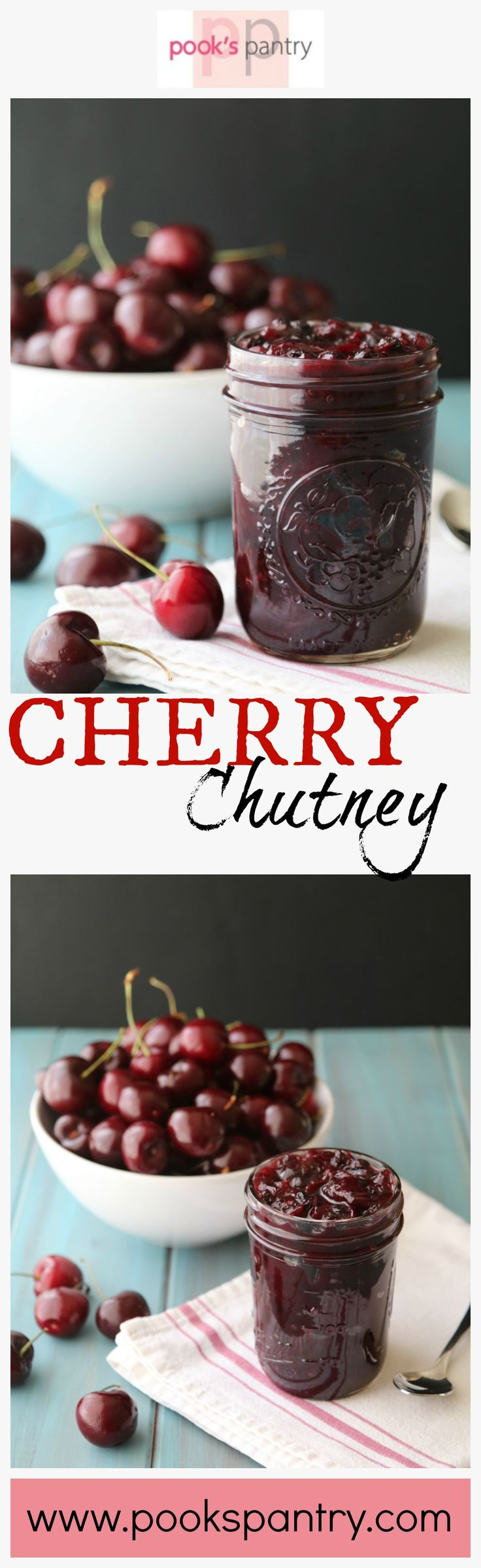 Sweet and savory cherry chutney is a perfect addition to grilled meats. It also makes a great addition to a charcuterie board or cheese board.