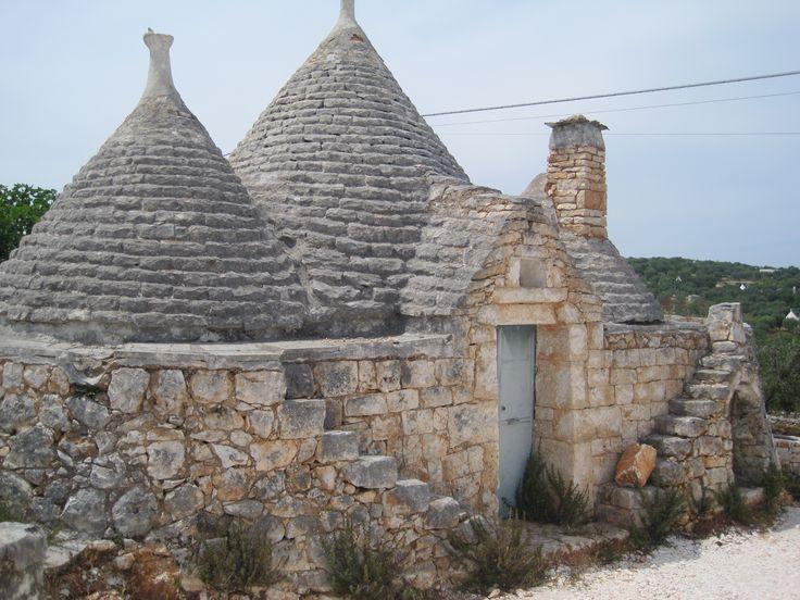 Trulli huisjes in Ostuni   Zuid italie
