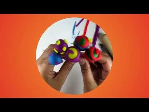 DIY How to Make Rainbow Play Doh Lolli Pop by Kids Wow Collector