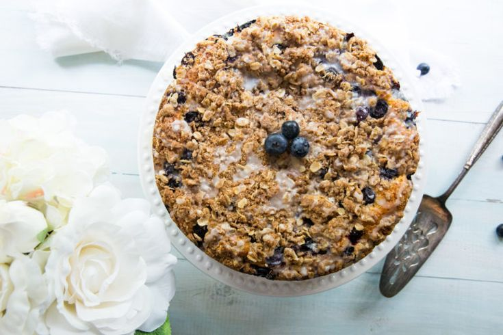 Blueberry coffee cake w cinnamon oat streusel recipe