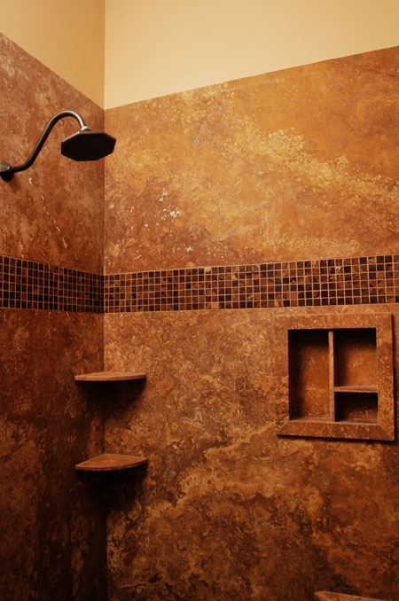 Solid Stone Shower Walls With No Grout Or Seams For The