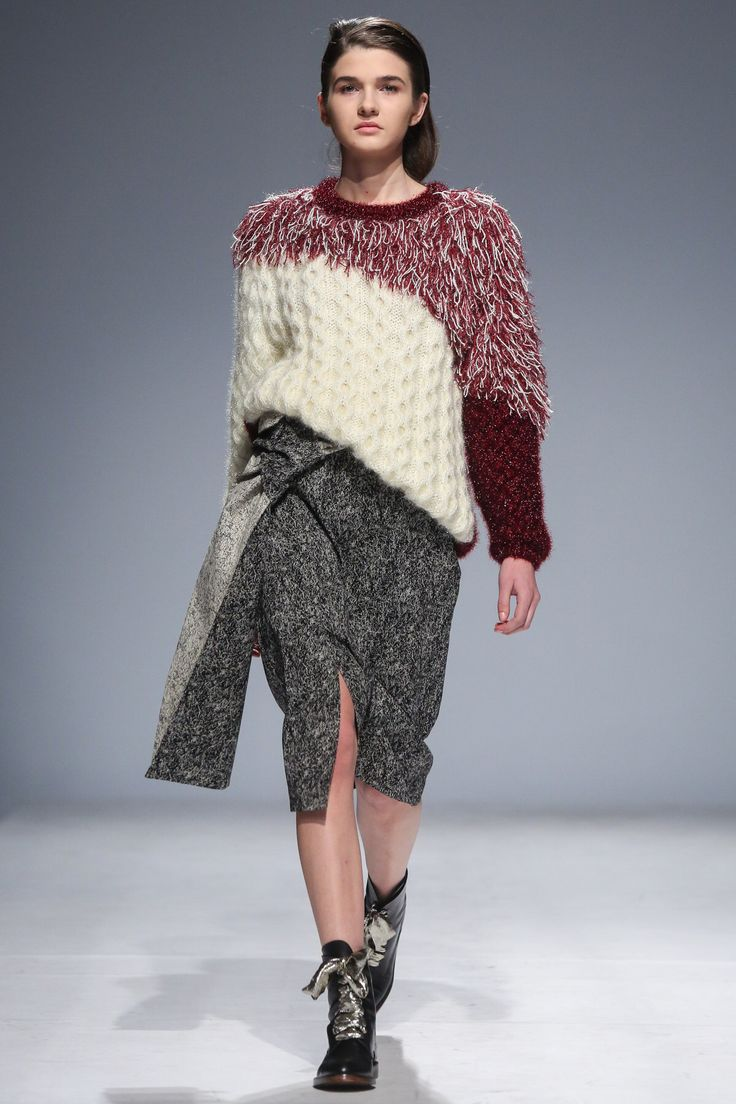 Anouki, knit/crochet combine pullover