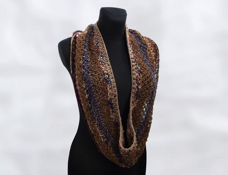Knitted – THE COOLNESS SCARF COSY COWL – a unique product by betulek on DaWanda