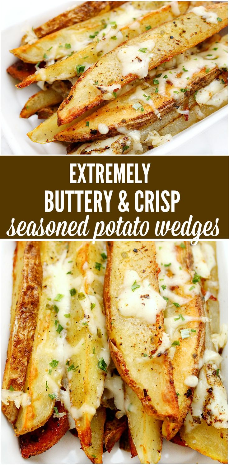 Easy recipe for the best seasoned potato wedges ever. Perfect for a snack, side dish or even parties. Buttery, crispy potato perfection everyone will love! Appetizers