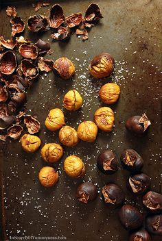 How to Roast Chestnuts in Your Oven | www.insearchofyummyness.com | #chestnuts #roasted #snack